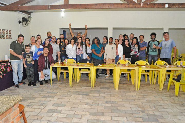 Confraternização da escola de samba Sambaqui (Balneário Piçarras)