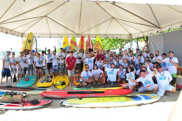 Segunda Remada incentiva a prática de Stand UP Paddle em Balneário Piçarras
