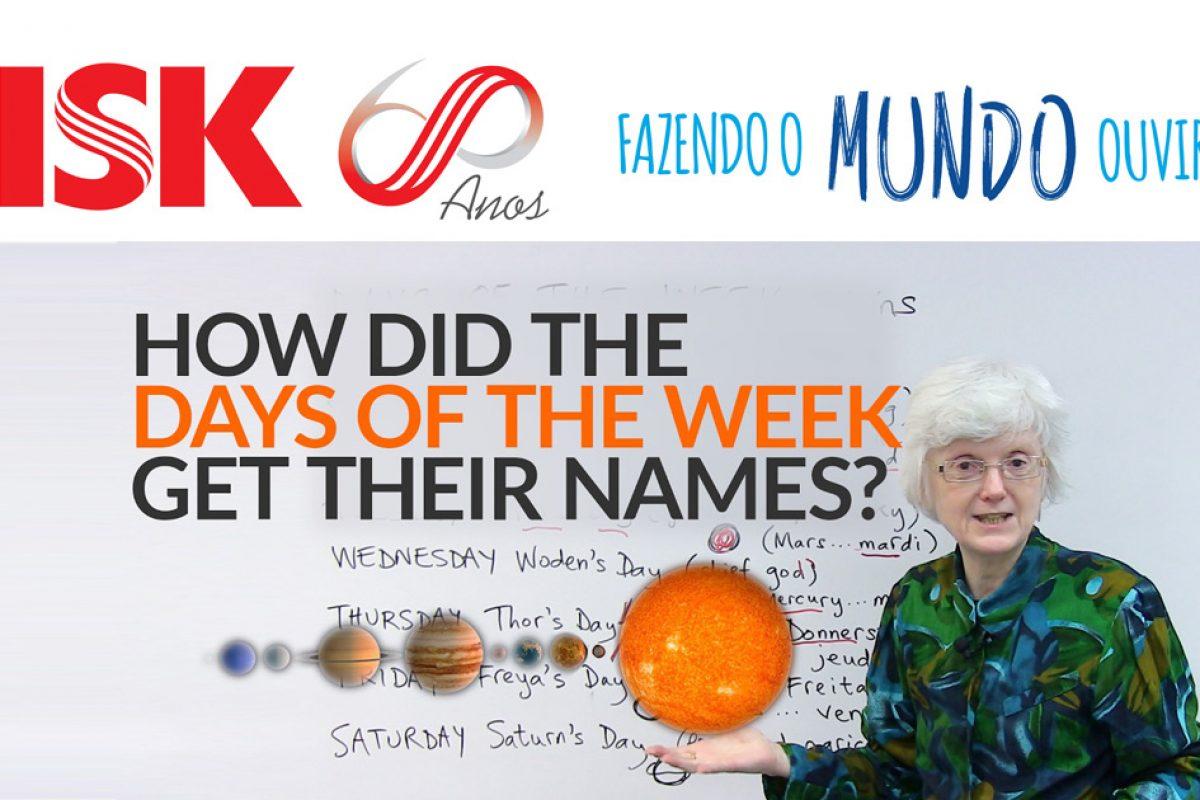 Como surgiram os nomes dos dias da semana em inglês?