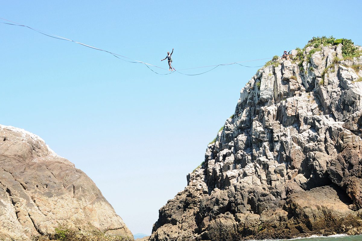 "<span class=""hot"">Hot <i class=""fa fa-bolt""></i></span> Desafio Highline Ilhas Itacolomi (Piçarras)"