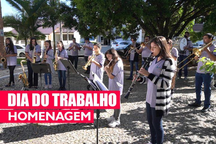 Dia trabalho – homenagem da Fundação Cultural e Banda Municipal de Balneário Piçarras (SC)