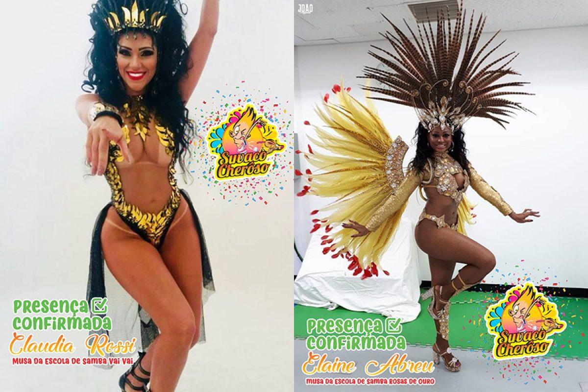 """Musas de SP no Carnaval de Barra Velha (SC) – bloco """"Suvaco Cherôso"""""""