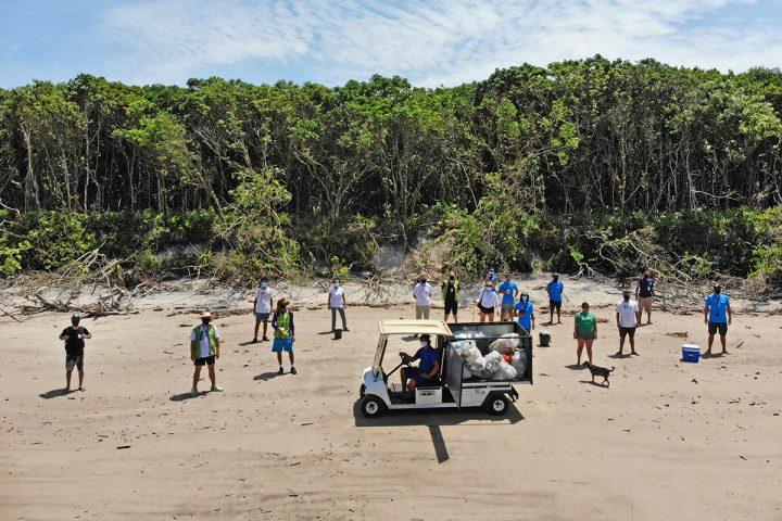 Eco Local Brasil – ação na Ilha do Mel (Ponta Oeste – acesso 1)