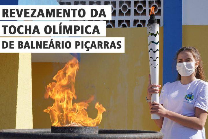 Revezamento da Tocha Olímpica em Balneário Piçarras (SC)