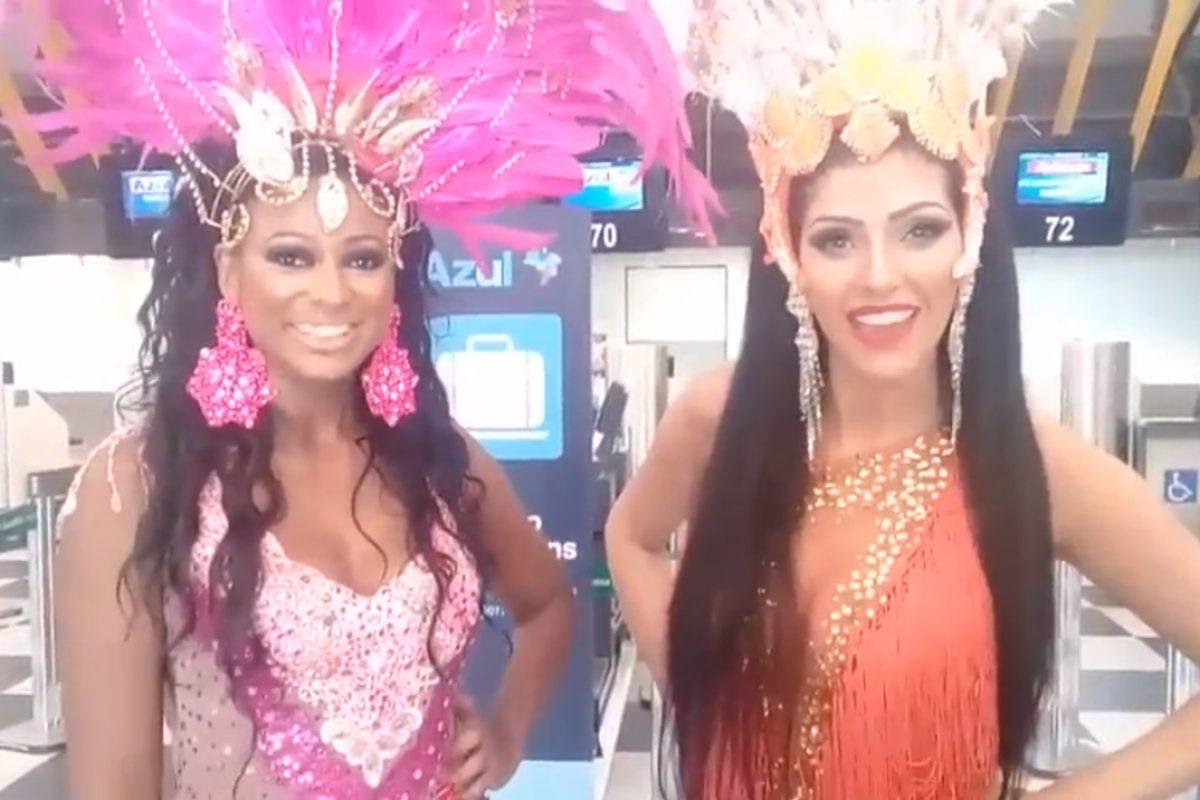Recadinho especial das musas Claudia Rossi e Elaine Abreu de SP para Barra Velha