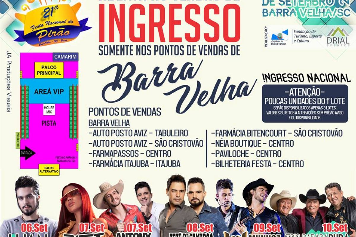 "<span class=""hot"">Hot <i class=""fa fa-bolt""></i></span> Venda de Ingressos para shows nacionais da 21ª Festa Nacional do Pirão"